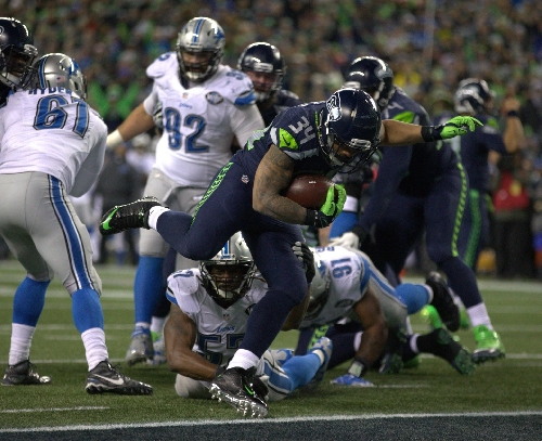 Thomas Rawls' record rushing performance powers Seahawks to wild-card win over Lions