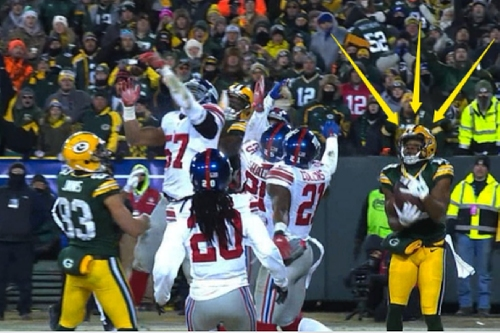 Packers' get Giant payback on Hail Mary TD