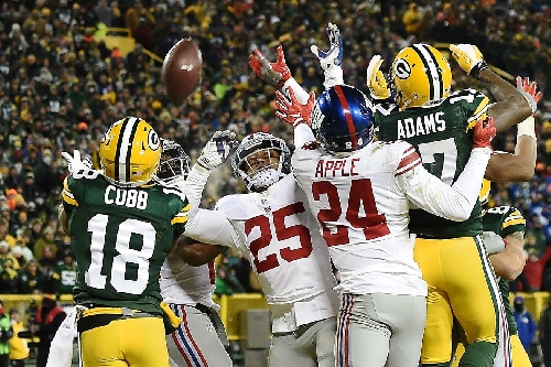 Twitter reacts to Aaron Rodgers' Hail Mary to Randall Cobb against Giants