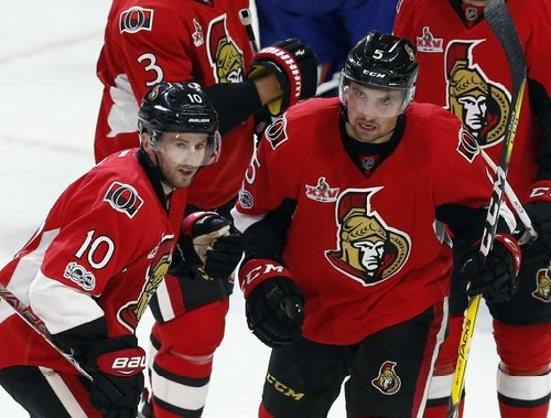 Stone, Condon lead Senators to 5-3 win over Oilers The Associated Press