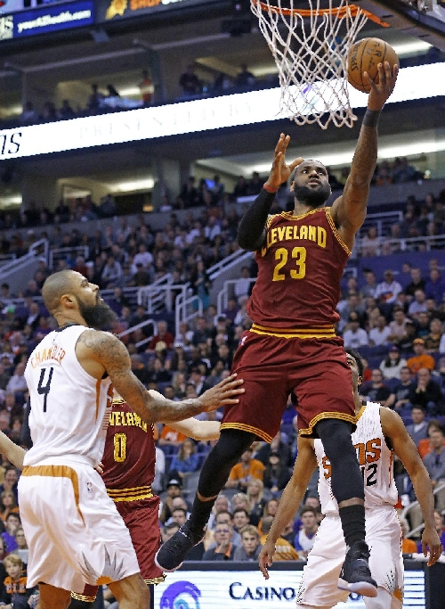 LeBron James, Cavaliers hold off Suns 120-116 The Associated Press