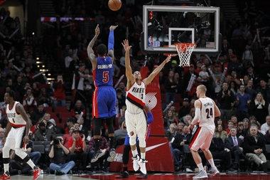 Detroit Pistons beat Portland Trail Blazers: CJ McCollum's big miss, Terry Stotts' substitution wrinkle, Mason Plumlee's near triple-double