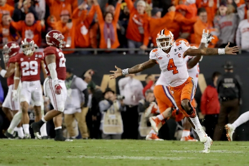 Dak Prescott, Dez Bryant and other local athletes loved every second of Clemson's upset of Alabama