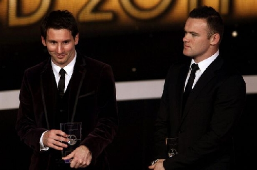 Messi NOT in Manchester United captain Rooney's FIFA Player of Year top three