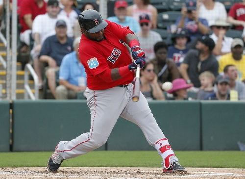 Pablo Sandoval, Boston Red Sox 3B, seen taken right-handed swings in latest video posted