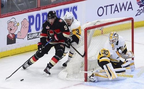 Condon makes 29 saves, Senators beat Penguins 4-1 The Associated Press