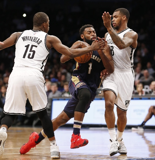 Pelicans, minus Davis, hand Nets 8th straight loss, 104-95 The Associated Press