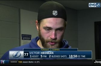 Victor Hedman on fight: 'You've got to stand up for one another'