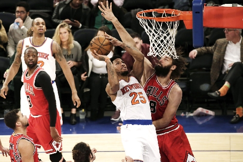 Rose, Carmelo and a rookie lead Knicks to drought-busting win
