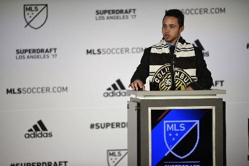 Columbus Crew SC select forward Niko Hansen with ninth-overall pick