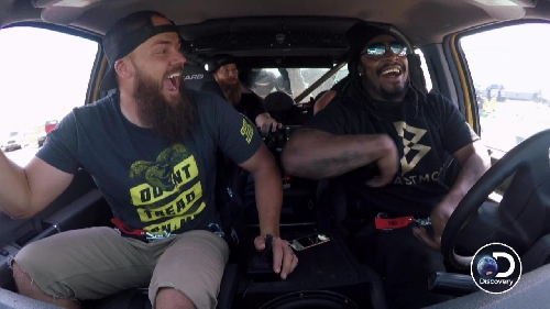 Watch: Marshawn Lynch goes Beast Mode in a monster truck for music video