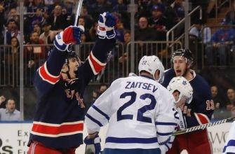 Nylander, van Riemsdyk score early, Maple Leafs beat Rangers