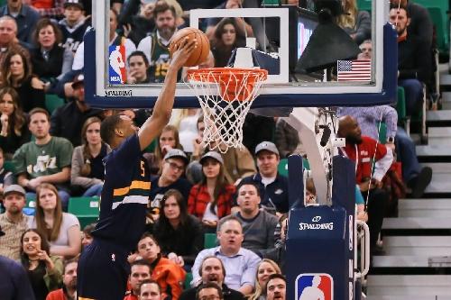 Utah Jazz sharpshooter Rodney Hood had quite a night against the Detroit Pistons