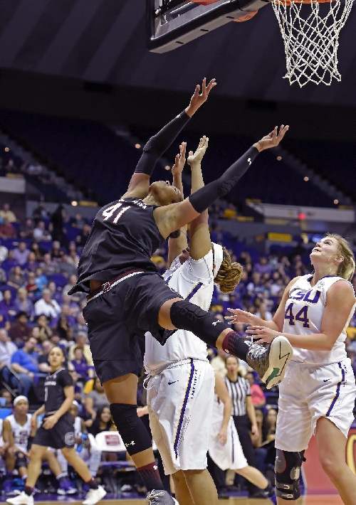 Coates leads No. 5 South Carolina past LSU, 84-61 The Associated Press