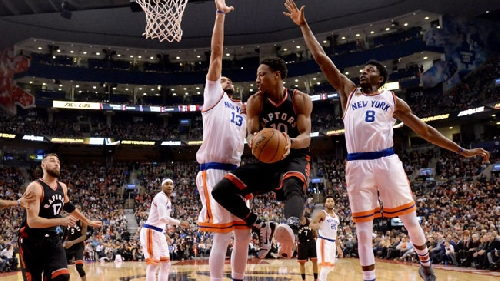 Raptors take easy win over Knicks