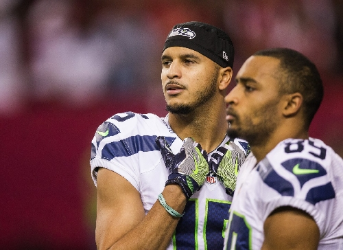 """Seahawks receiver Doug Baldwin emotional after end of """"exhausting"""" season but hopeful about the future"""