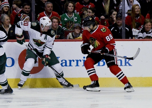 Surging Wild beat Blackhawk 3-2 for Western Conference lead The Associated Press