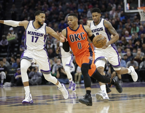 Westbrook gets 20th triple-double, Thunder beat Kings The Associated Press