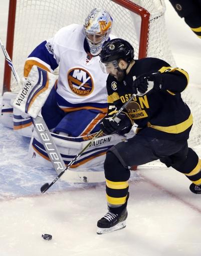 Greiss makes 32 saves; Islanders blank Bruins 4-0 The Associated Press
