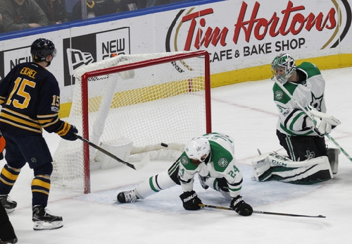 Eichel scores twice in Sabres' 4-1 win over Stars The Associated Press