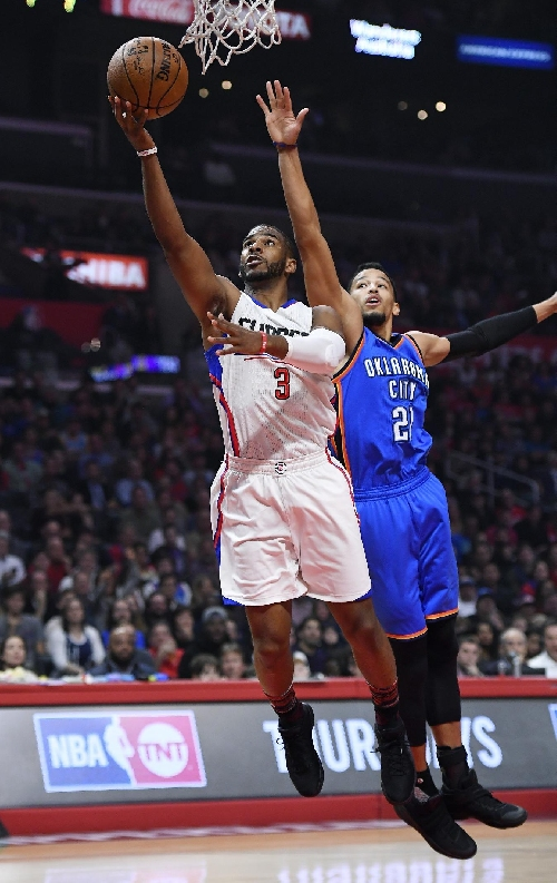 Paul hurt but Clippers trounce Thunder to go 7-0 in 2017 The Associated Press