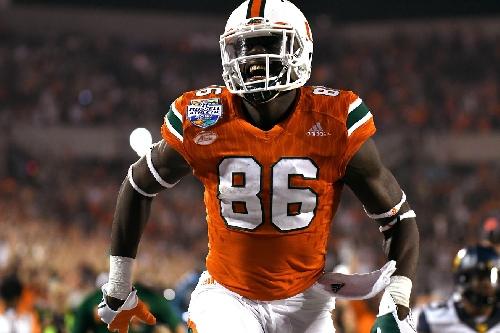 Miami Hurricanes TE David Njoku ranked 13th best NFL draft prospect