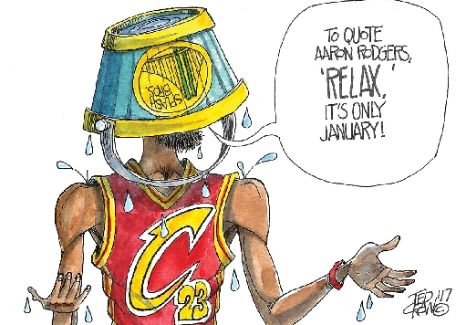LeBron James and Cleveland Cavaliers get splashed by Golden State Warriors: Crowquill