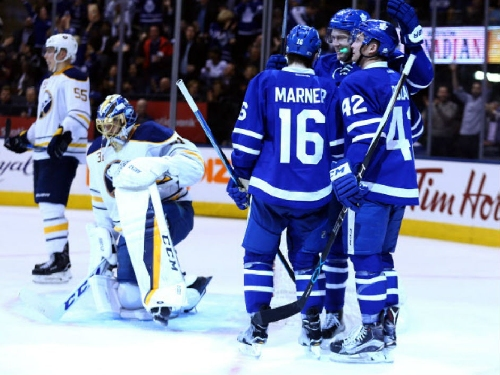 Toronto Maple Leafs keep rolling with win over Buffalo Sabres but Morgan Rielly forced to exit with injury