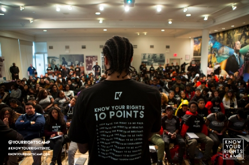 Colin Kaepernick conducted Know Your Rights camp in Harlem, passed out DNA ancestry kits
