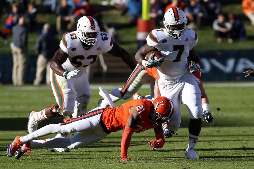 Miami Hurricanes announce RB Gus Edwards to transfer from program