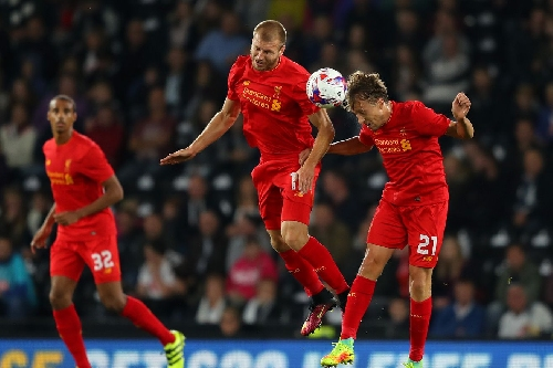 WATCH: Lucas Leiva's first goal since 2010 puts Liverpool on top of Plymouth