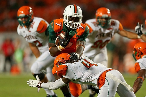 Could Miami running back transfer Gus Edwards be heading to Syracuse?