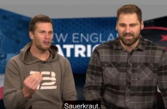 Tom Brady tried calling his own highlight in German and it didn't go well