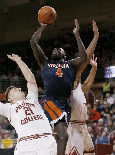 No. 16 Virginia beats Boston College 71-54 The Associated Press
