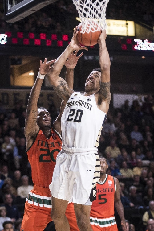 Collins leads Wake Forest past Miami, 96-79 The Associated Press