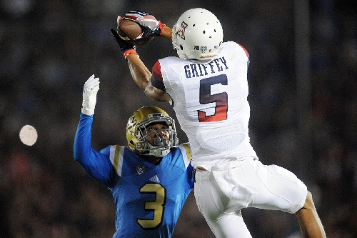 Arizona football: Trey Griffey using size to impress NFL scouts at East-West Shrine Game