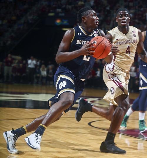 Notes: Freshman T.J. Gibbs a confident contributor for Notre Dame men's basketball team