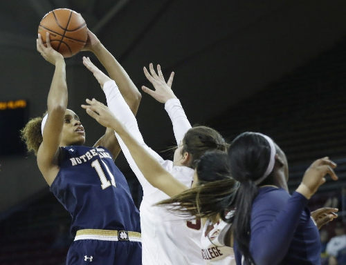 Third-quarter blitz carries Notre Dame women past BC