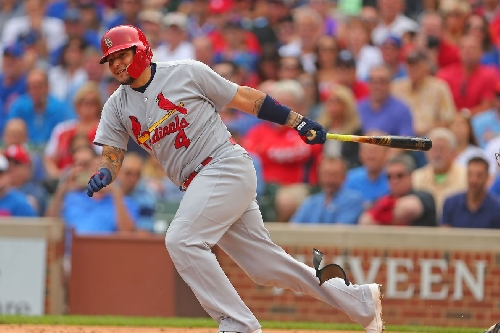 How does Yadier Molina compare to 2017's Hall of Fame ballot catchers?