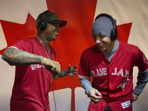 Stroman, Goins and Pearce stop in Toronto to give winter-weary Blue Jays fans a glimpse of the new baseball season