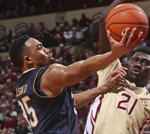 Notes: Notre Dame power forward Bonzie Colson a marked ACC man