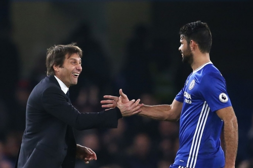Antonio Conte not worried about Diego Costa's commitment to Chelsea