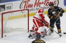 Red Wings not happy with power play, non-call in OT loss