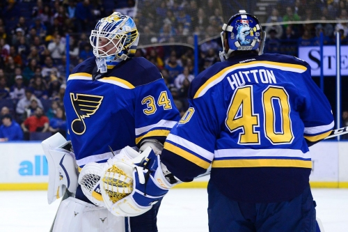 Blues claim confidence in Jake Allen, leave him at home