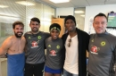 Didier Drogba comes back to Chelsea for a visit