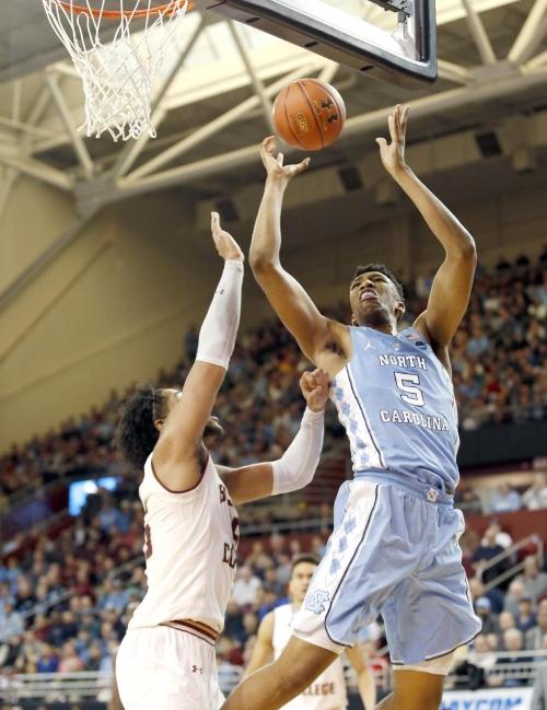 No. 9 North Carolina beats Boston College 90-82 The Associated Press