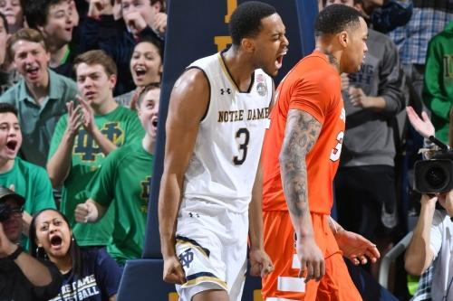 Notre Dame 84 - Syracuse 66: Irish drown Orange