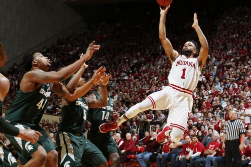 Three Takeaways: Spartans get buried early, can't quite rally against Hoosiers, lose 82-75