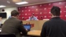 Tom Crean meets the media after Michigan State win