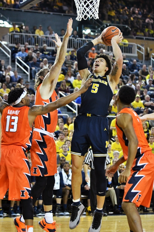 Message scrawled on wall fires up Wolverines
